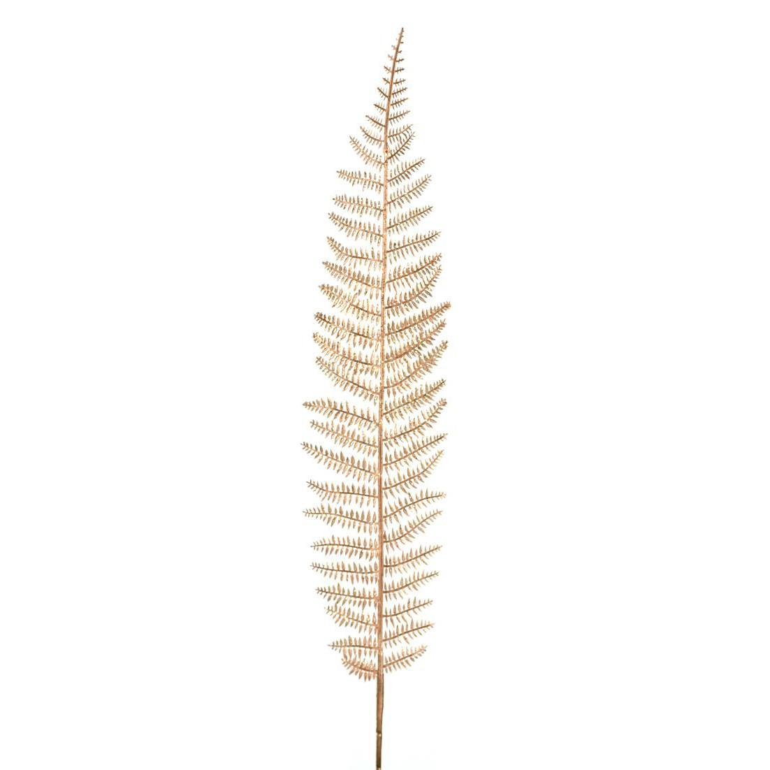 Haste Natalina 102 cm Samambaia Glitter Dourada - 47711152