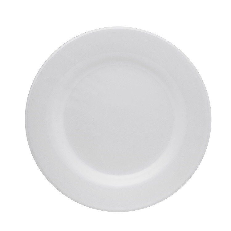Prato Raso Redondo em Ceramica Plus Branco 24cm - Oxford