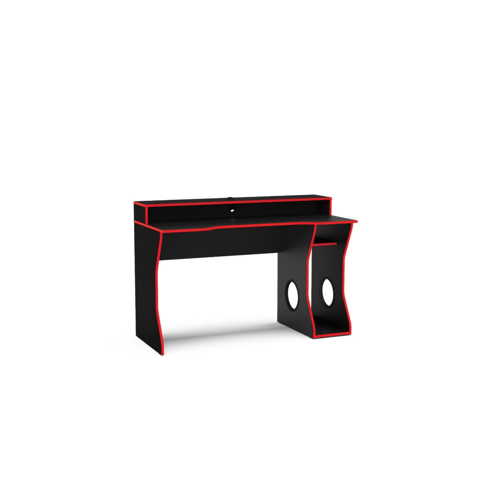 Mesa para Escritorio Vermelha e Preta 130cm Fremont - Politorno