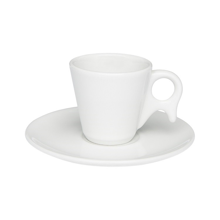 Xicara de Cafe de Porcelana 75ml com Pires Branco Genova - Oxford