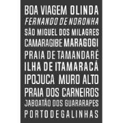 Placa Decorativa em MDF 20x30cm Boa Viagem 69137 - Kapos
