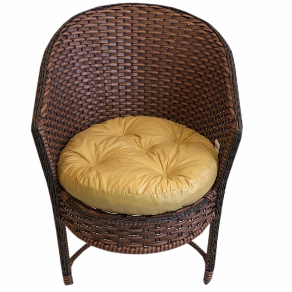 Cadeira Ferro e Fibra Tabaco tropical - Comercial Freire