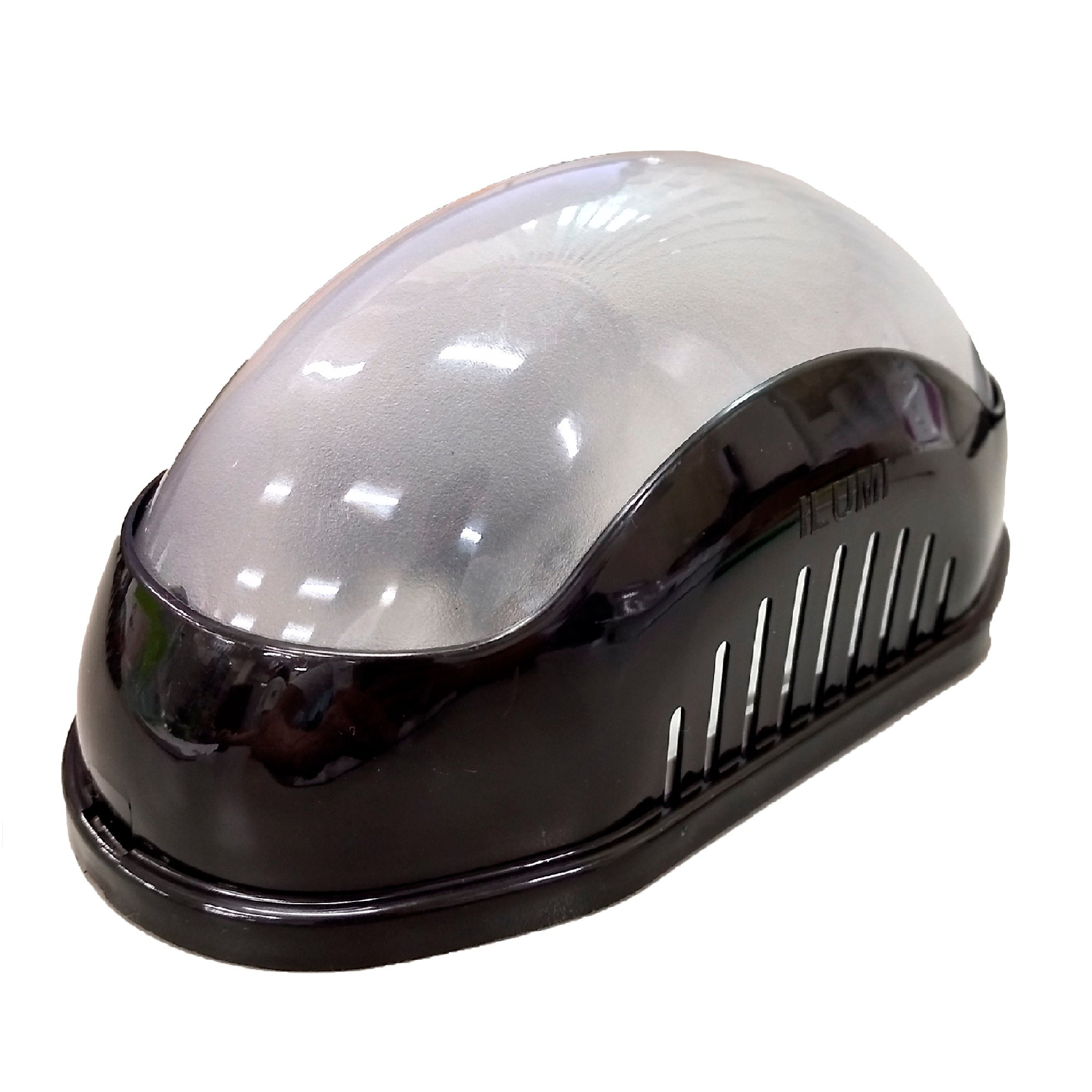 Luminaria de Sobrepor Plastico Polipropileno e Visor em Policarbonato 25W Preta - Ilumi