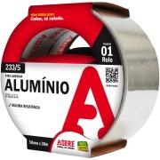 Fita Adesiva Alumínio 25mm x 30m Cinza 1 Unidade - Adere