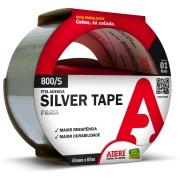 Fita Adesiva Silver Tape 45mm x 5m 1 Cinza Unidade - Adere