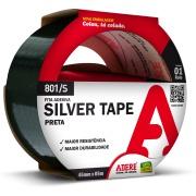 Fita Adesiva Silver Tape 45mm x 5m Preta 1 Unidade - Adere