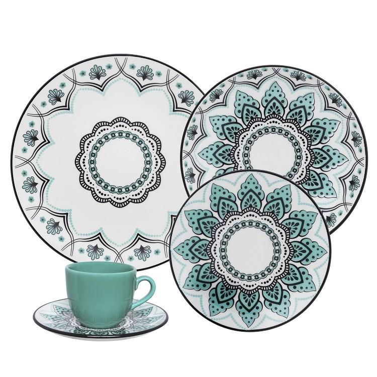 Aparelho de Jantar Serene de Porcelana 20 Pecas - Oxford