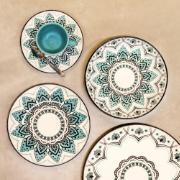 Aparelho de Jantar Serene de Porcelana 20 Peças - Oxford