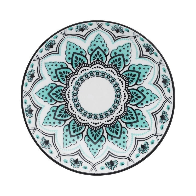 Prato Fundo Redondo em Porcelana Serene Branco 24cm - Oxford