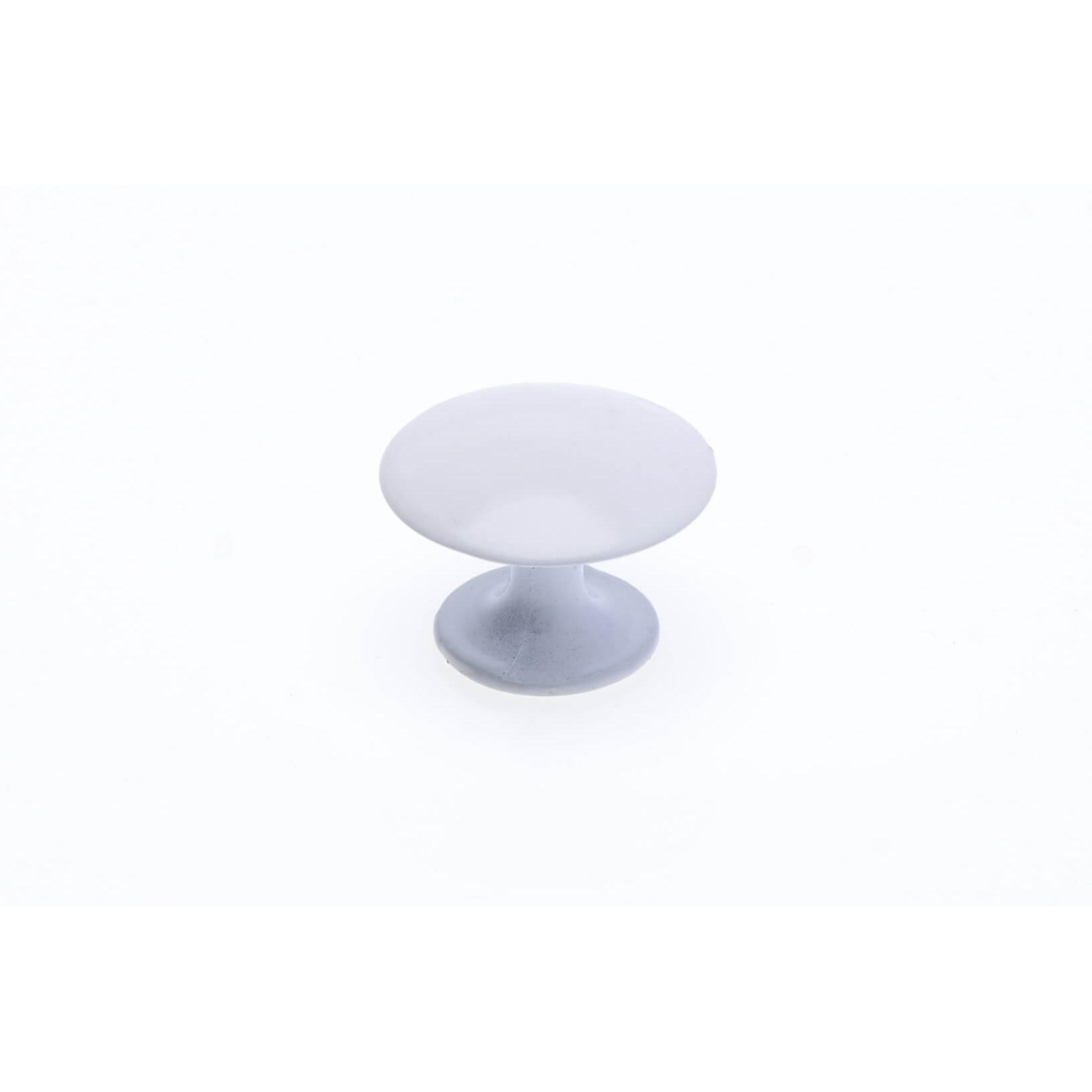 Puxador para Moveis Branco Fosco 25mm Cogumelo - Hastvel