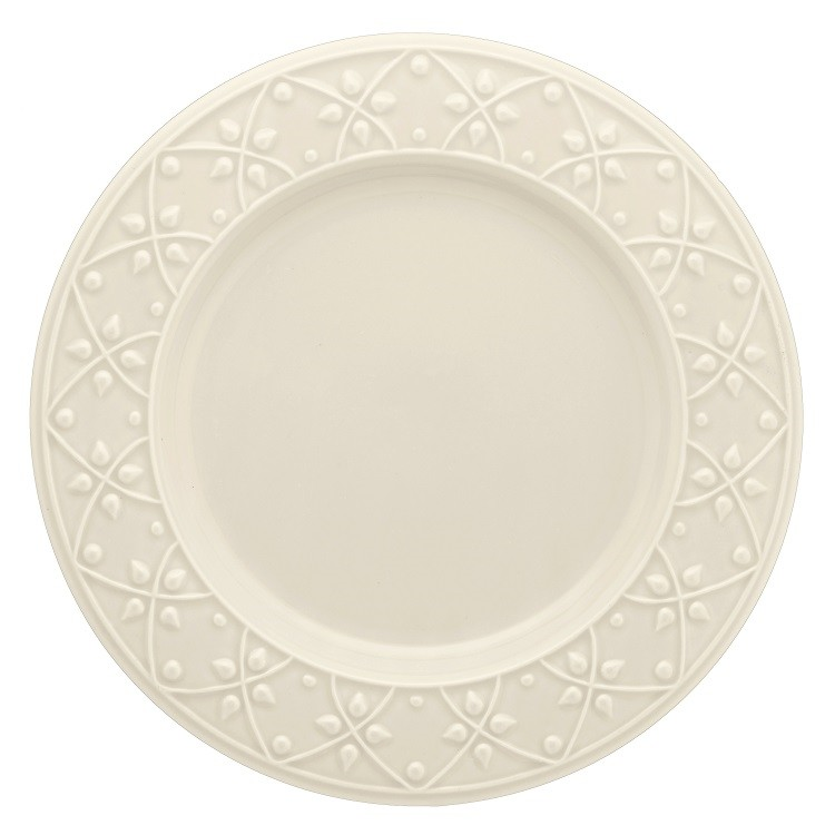 Prato Raso Redondo em Ceramica Daily Mendi Marfim 26cm - Oxford