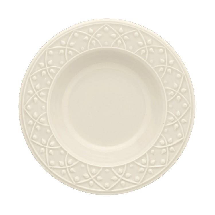 Prato Fundo Redondo em Ceramica Daily Mendi Marfim 23cm - Oxford