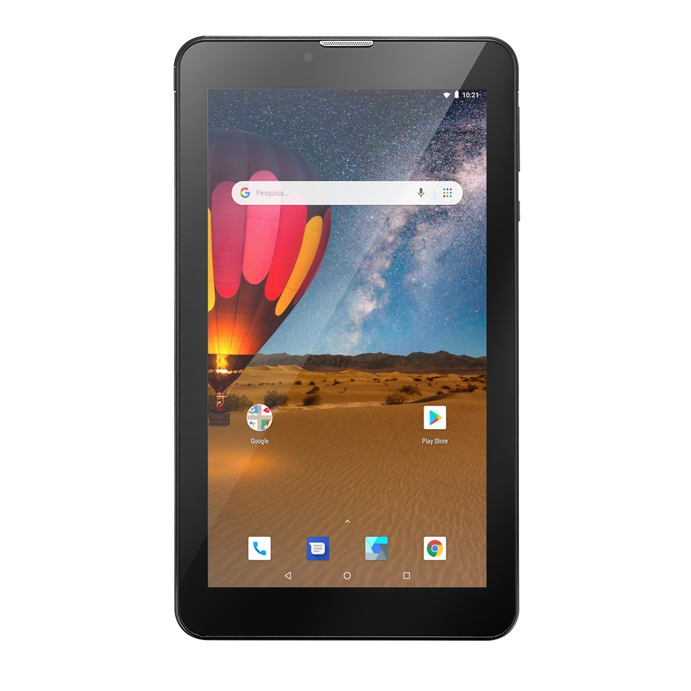 Tablet M7 3G Plus Multilaser Wi-fi Android 16GB Preto - NB304