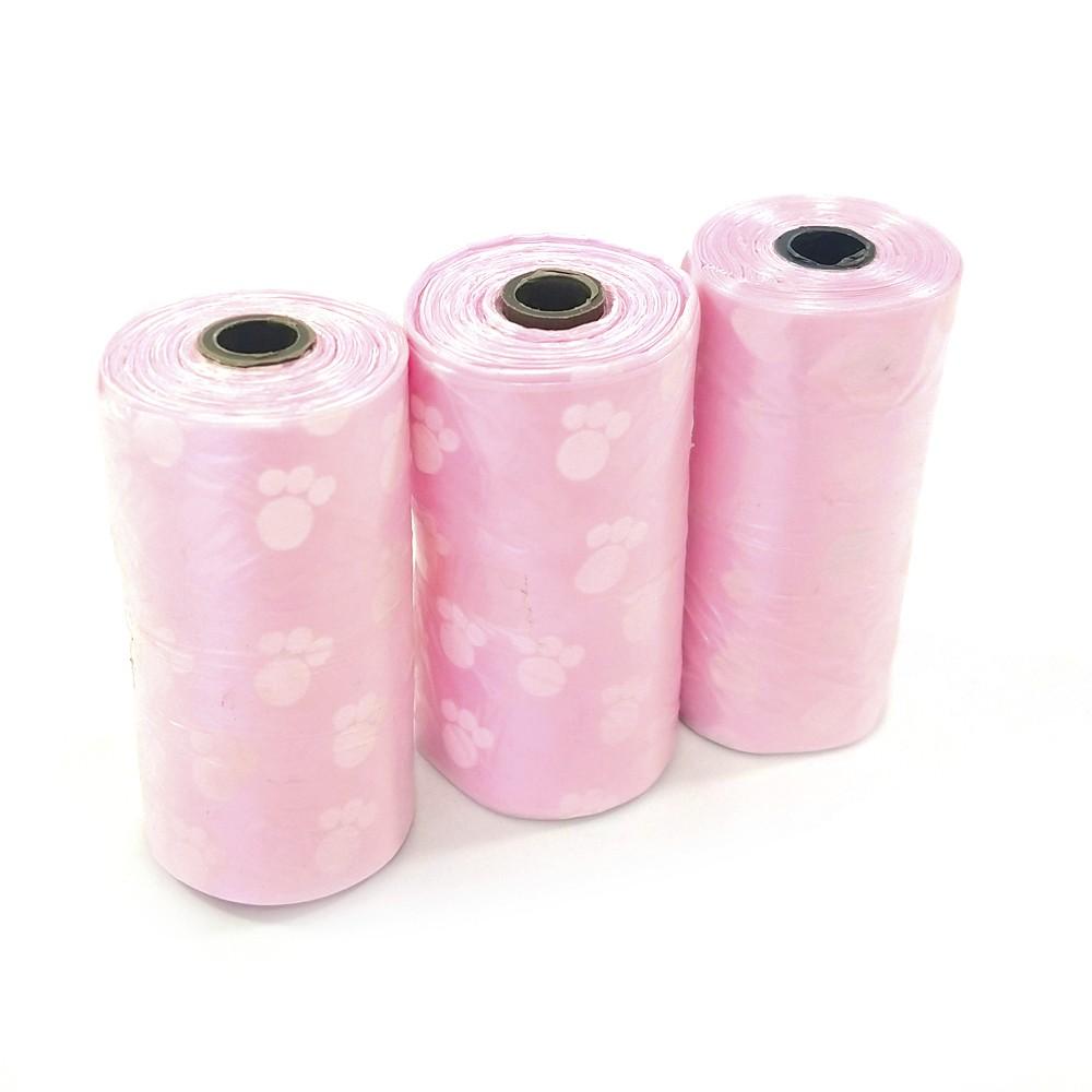 Sacos Higienicos Para Pets Plastico Rosa - The Pets