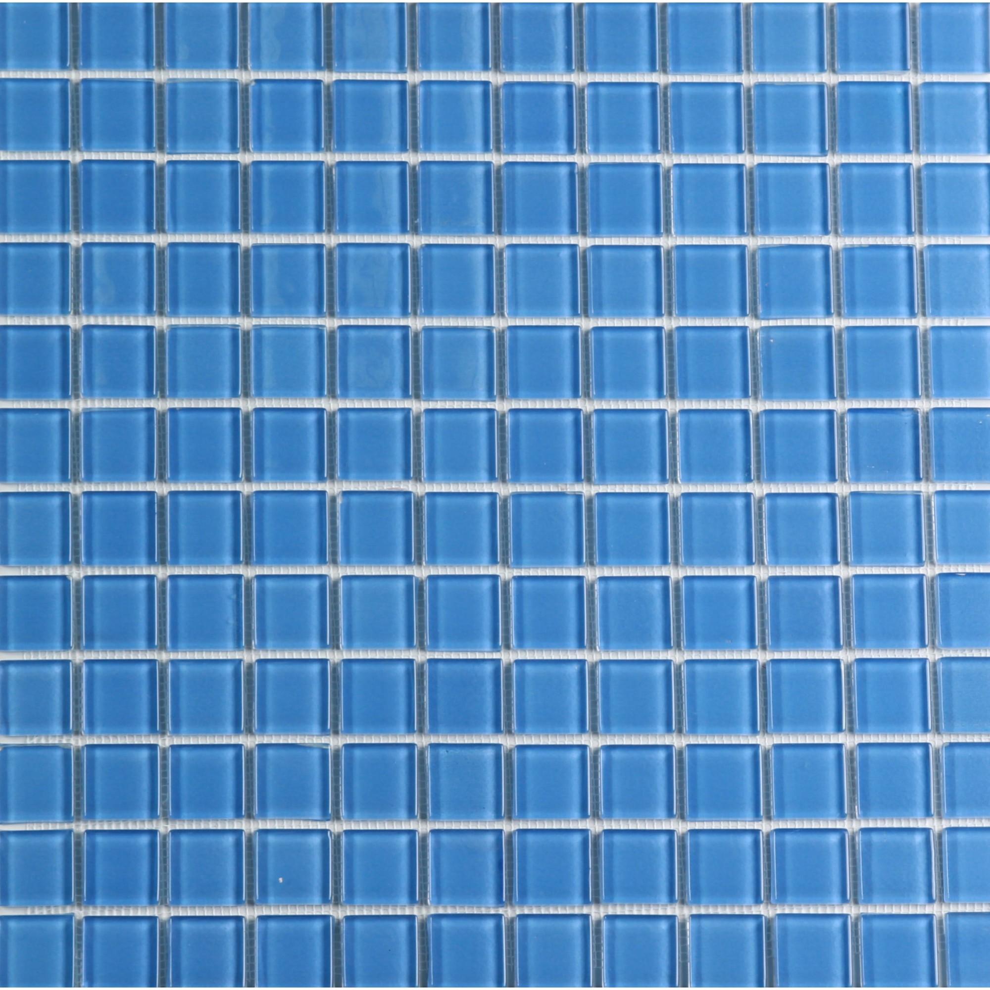 Pastilha de Vidro Brilhante 23x23cm Azul - VT0320C0034 - Vetromani