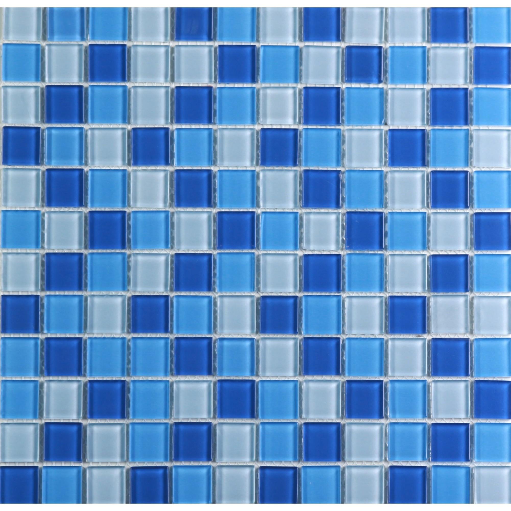 Pastilha de Vidro Brilhante 23x23cm Azul - VT0320C4115 - Vetromani