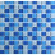 Pastilha de Vidro Brilhante 2,3x2,3cm Azul - VT0320C4115 - Vetromani