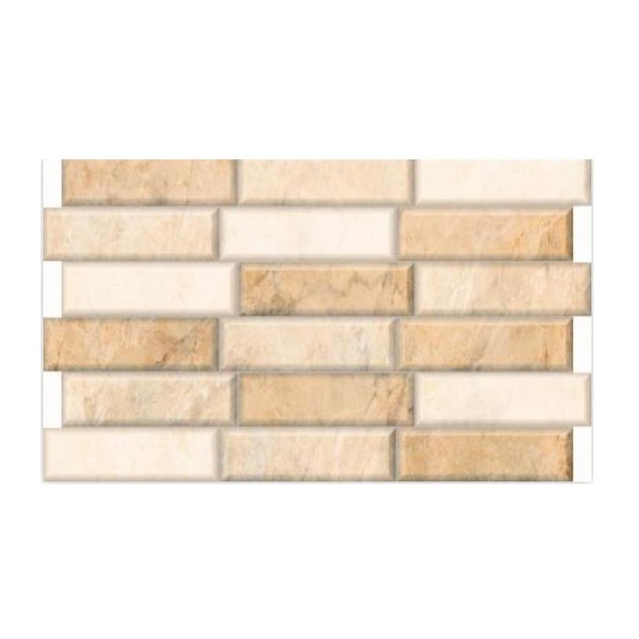 Revestimento Tipo A 35x59 cm Esmaltado Brick Crema Marfil - RVE35320 - Incenor