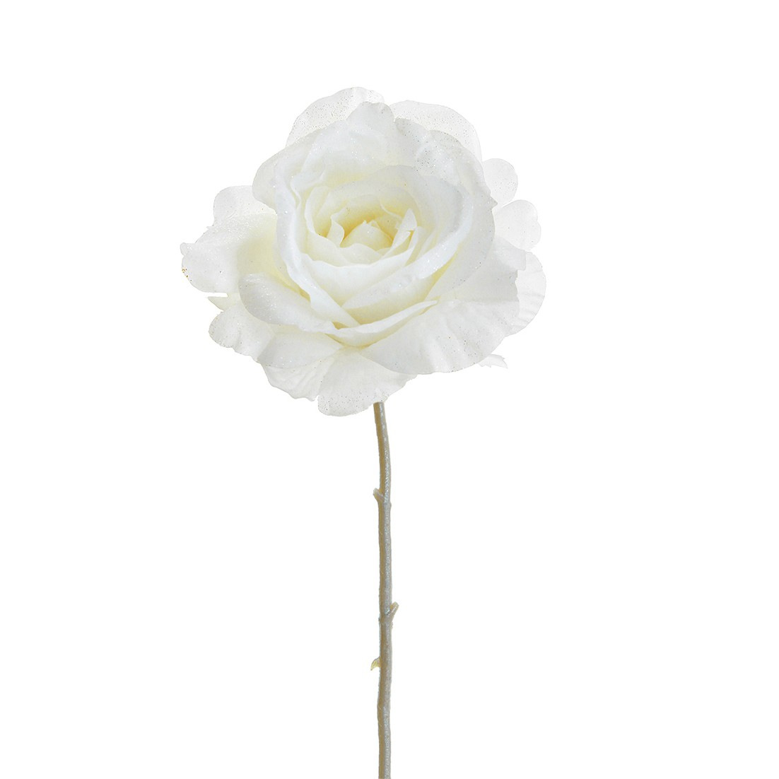 Haste Rosa Artificial 40cm Angel Branca 34323-008 - GPresentes