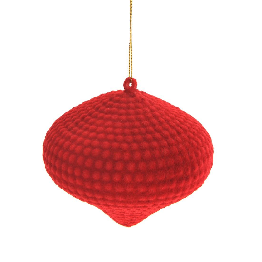 Enfeite de Arvore Natalina Peao 10 cm Vermelho - 34782-009