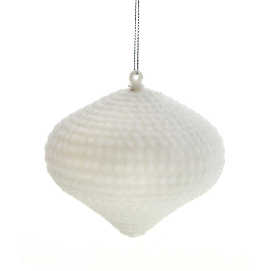 Enfeite de Arvore Natalina Peao 10 cm Branco - 34782-008