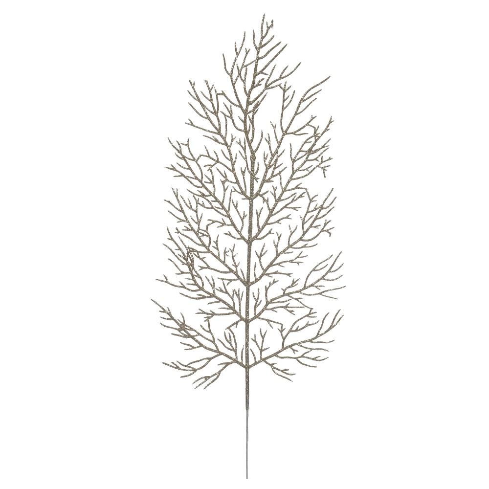Haste Natalina 40 cm Samambaia Champanhe - 17593004
