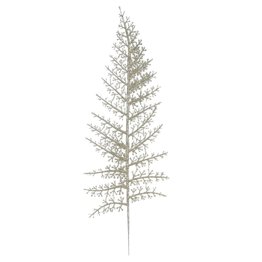 Haste Natalina 40 cm Samambaia de Champanhe - 17590006