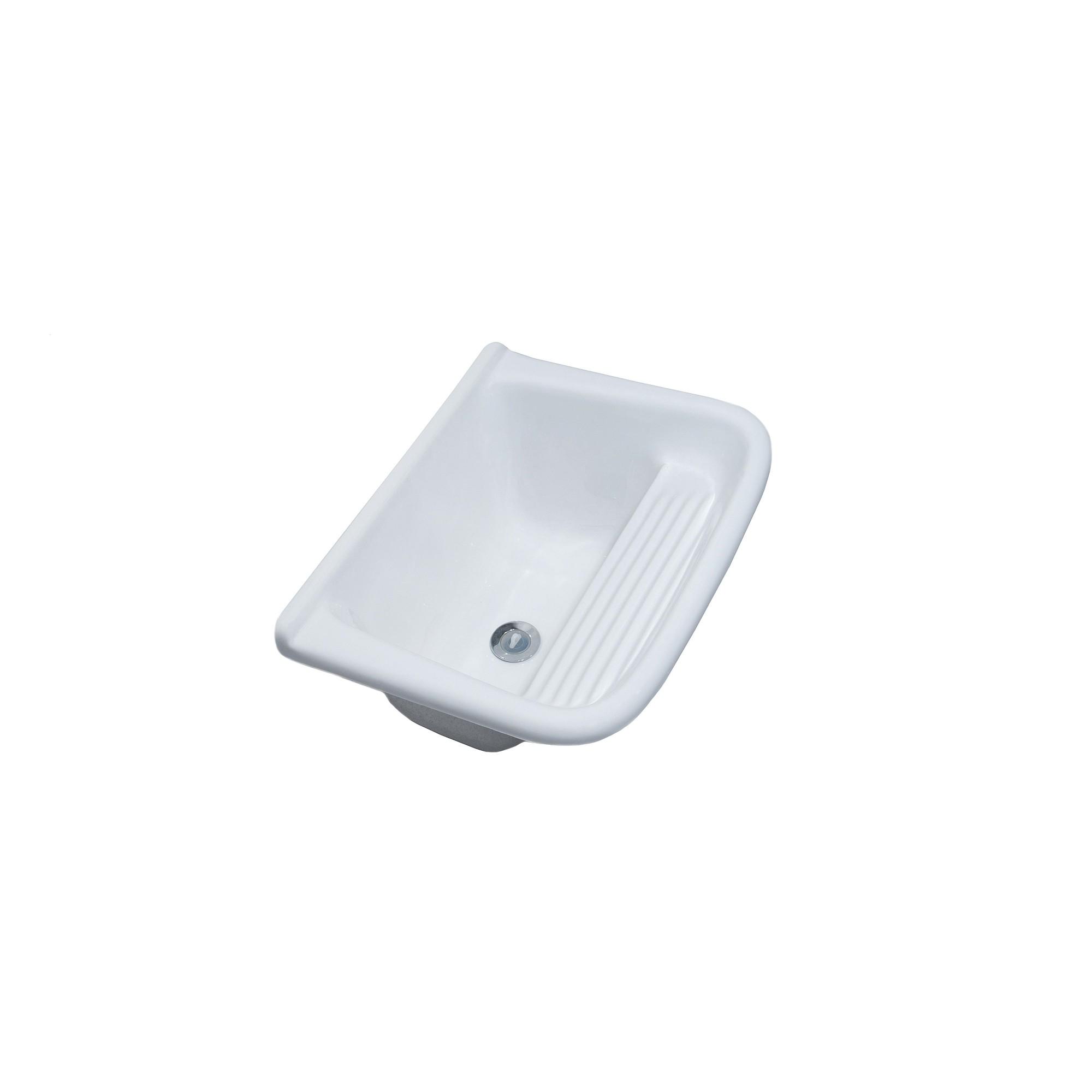Tanque Sintetico Simples 50x40cm Branco - Decoralita
