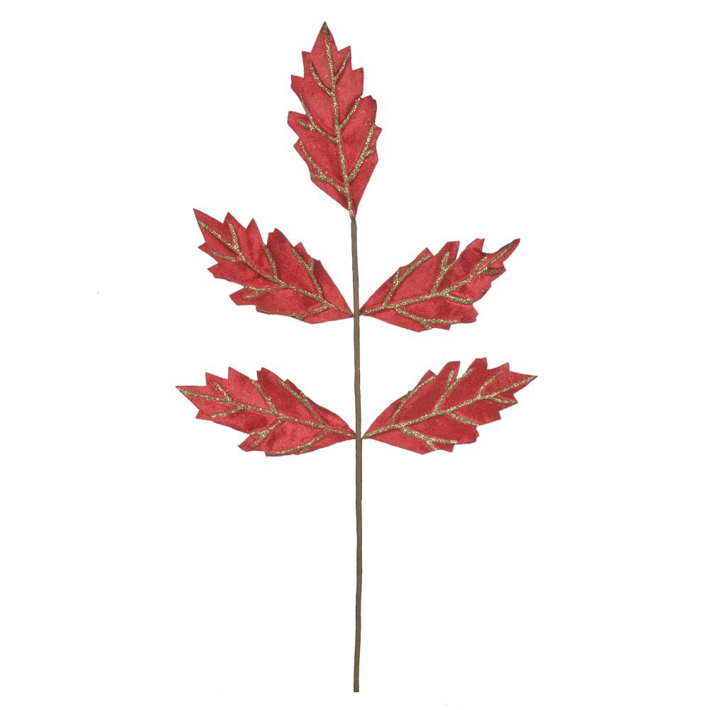 Haste Natalina 56 cm Folha Vermelha 63920002
