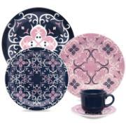 Aparelho de Jantar de Cerâmica 20 Peças Azul Hana - Oxford