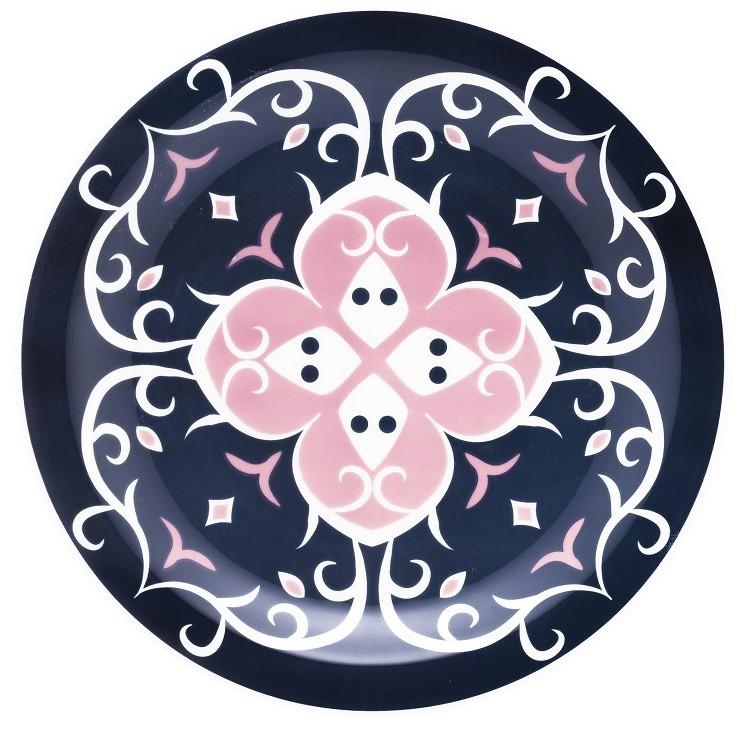 Prato Raso Redondo em Ceramica Hana Azul 26cm - Oxford