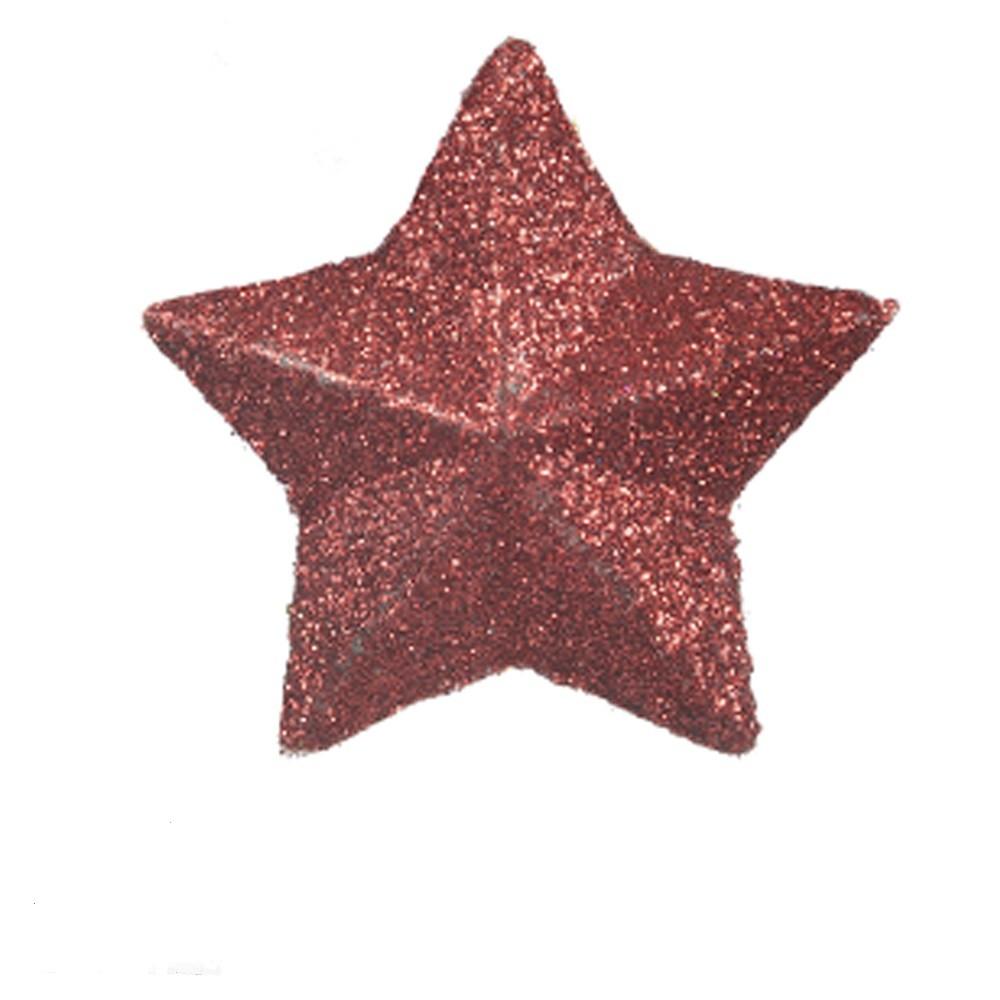 Enfeite de Arvore Natalina Estrela 4 cm 6 Pecas - 6213002