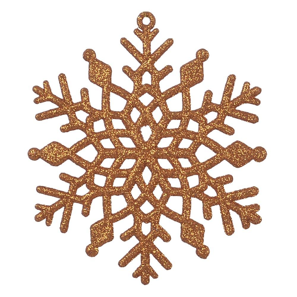 Enfeite de Arvore de Natal Floco de Neve 10cm - Dea