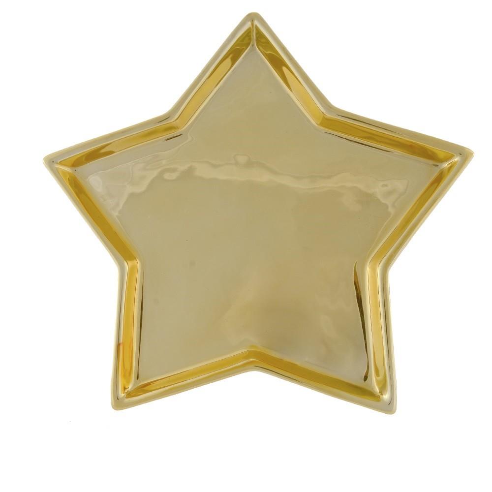 Bandeja de Ceramica Estrela 25 x 24 cm - 64031001