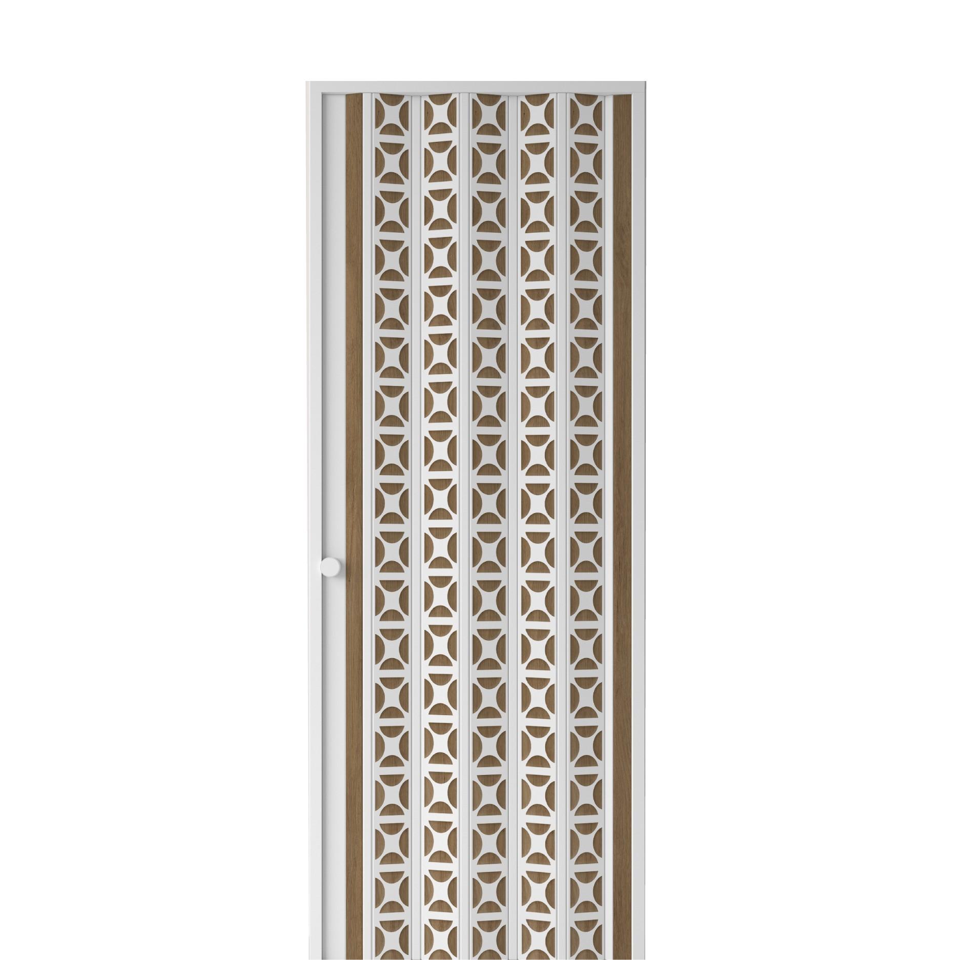 Porta Sanfonada de PVC 70x210 cm Marrom Claro - Araforros
