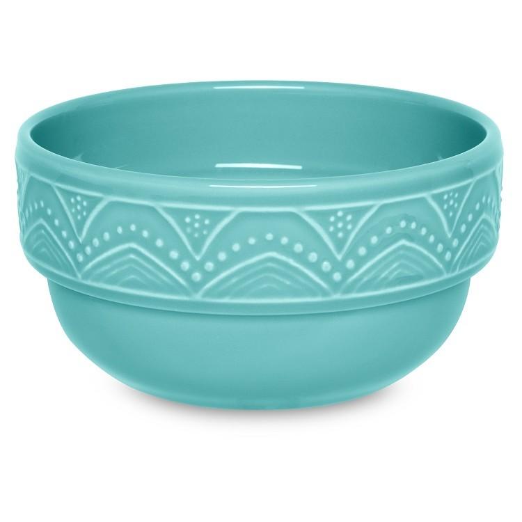 Tigela de Ceramica Redonda 16cm Turquesa - Oxford