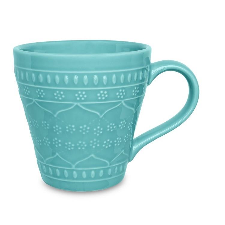 Caneca de Ceramica Turquesa 360ml Turquesa 077459 - Oxford