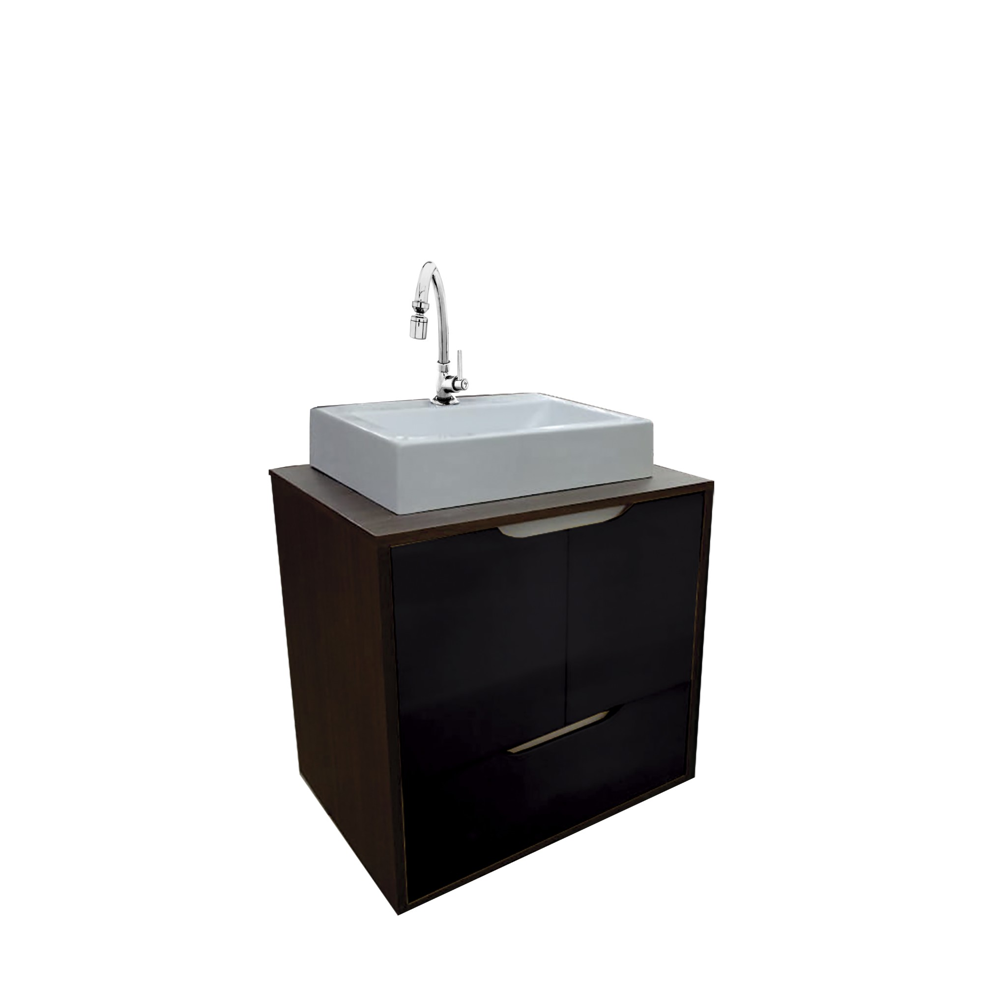 Gabinete para Banheiro 59x60cm Nogueira Allure 114010430 - Policlass