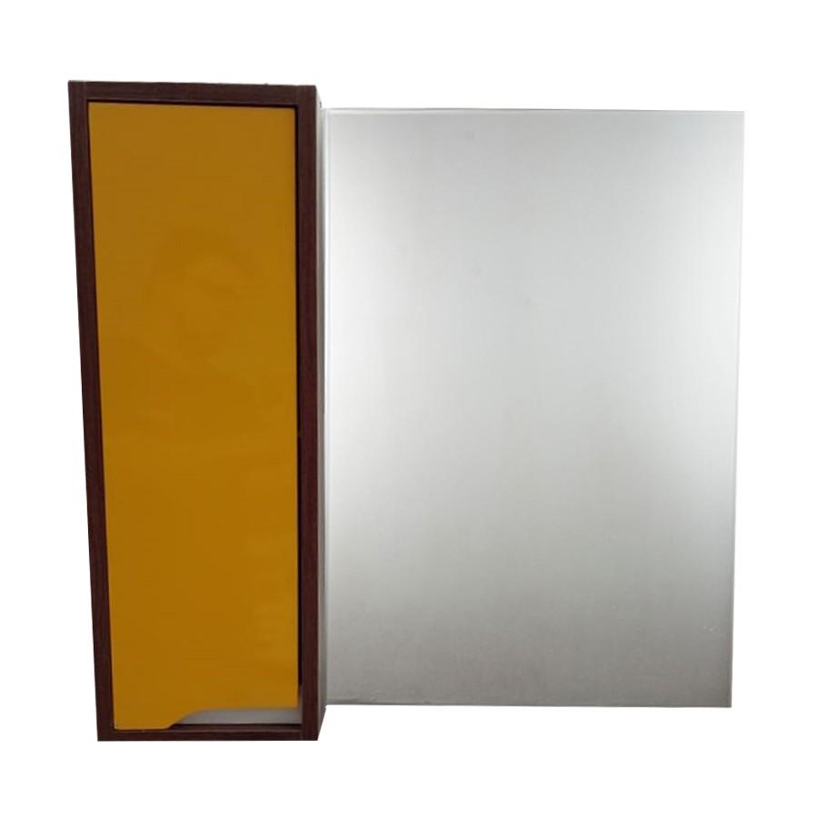 Espelheira Retangular 60x58cm Nogueira - Policlass