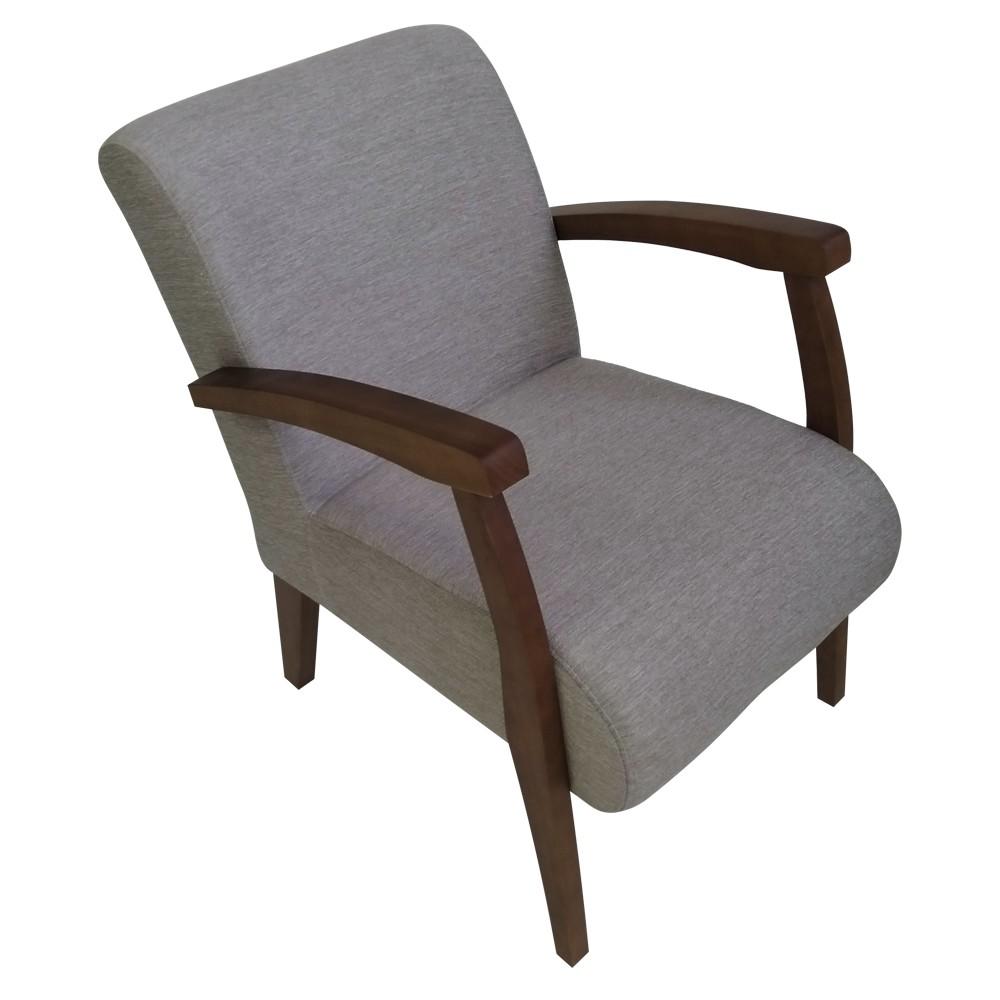 Cadeira Estofada de Aproximacao com Apoio de Braco Bege 55 - L2 Design