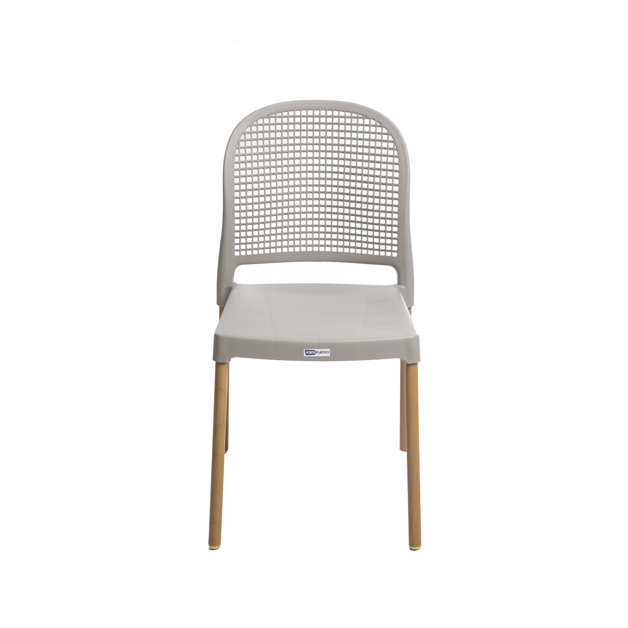 Cadeira Vintage Aluminio e Plastico Nude - Forte Plastico