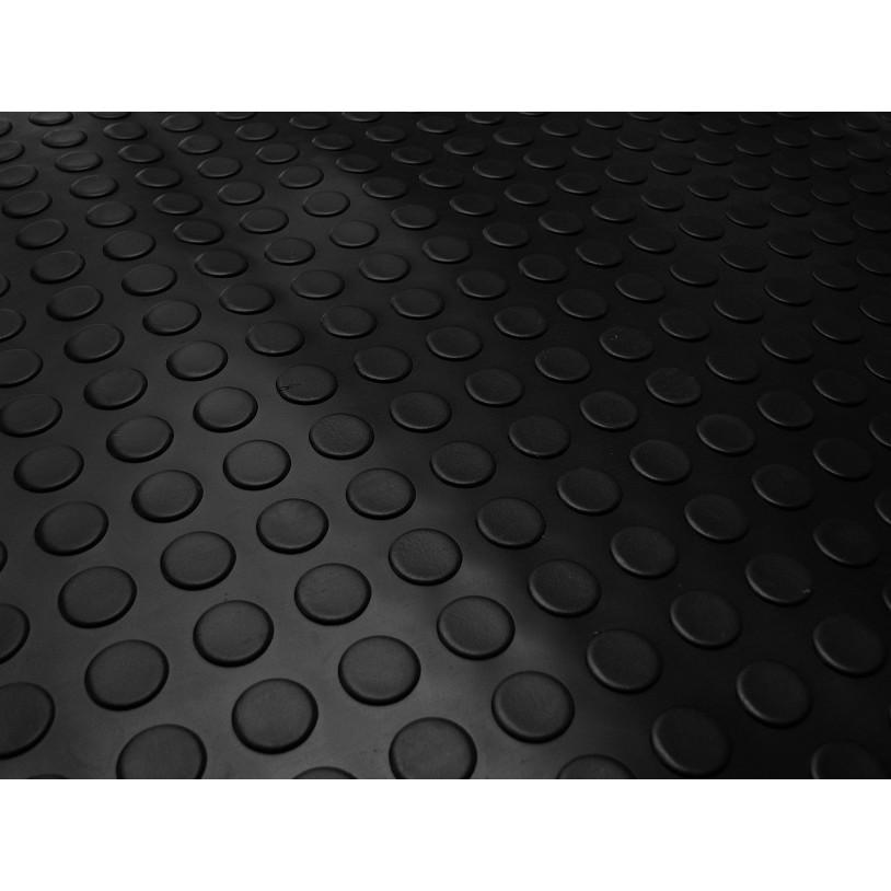 Piso Laminado Moeda PVC Preto 16 mm - 294103 - Kapazi