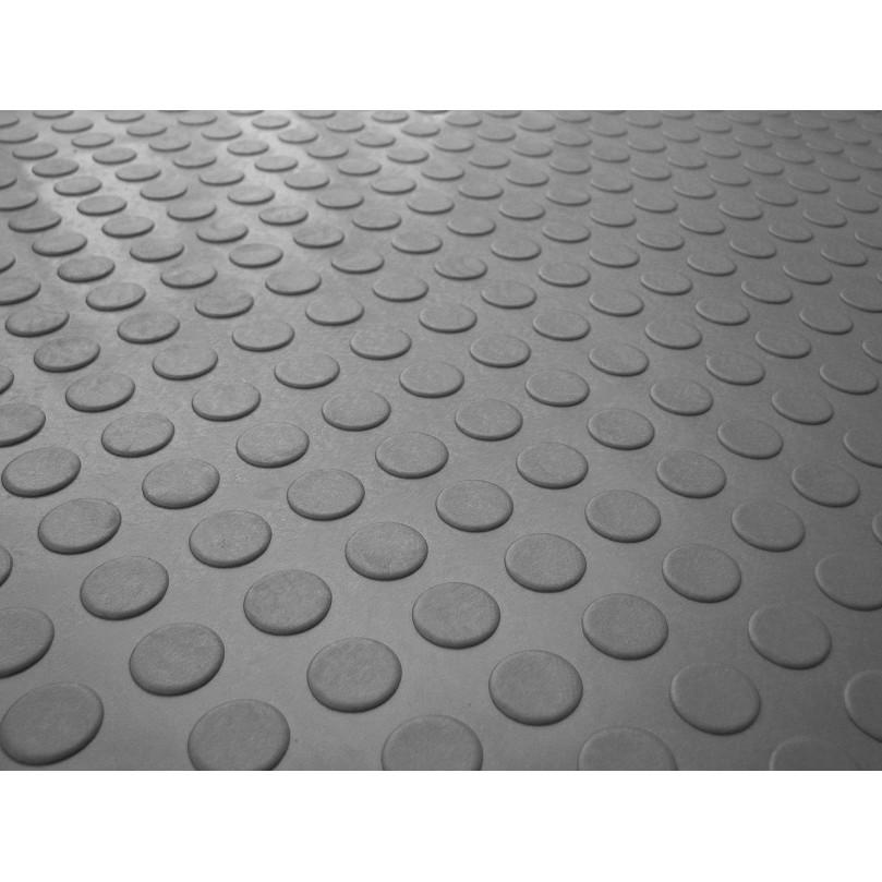 Piso Laminado Moeda PVC Cinza 16 mm - 294101 - Kapazi