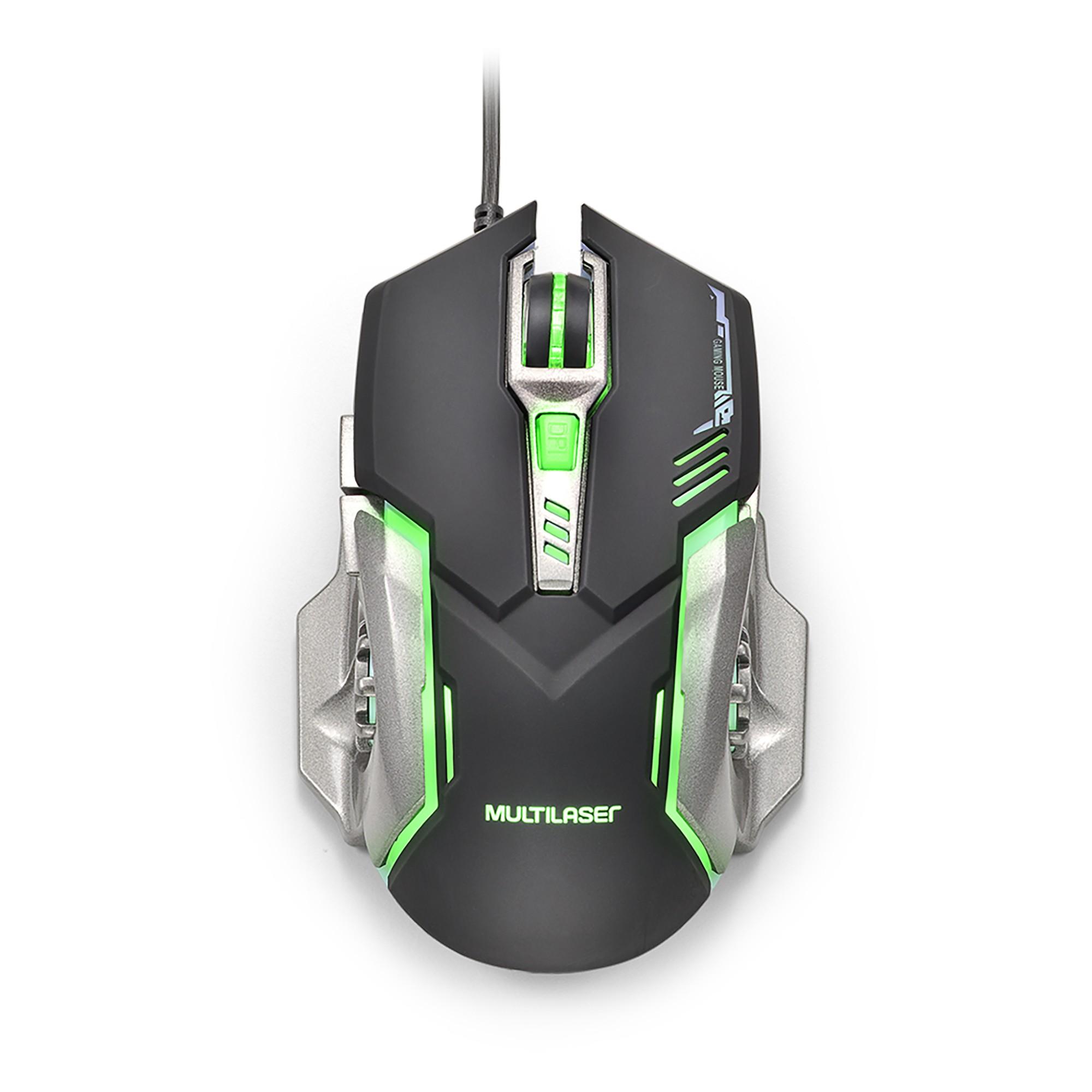 Mouse Optico USB Game Fire Botton MO269 Verde - Multilaser