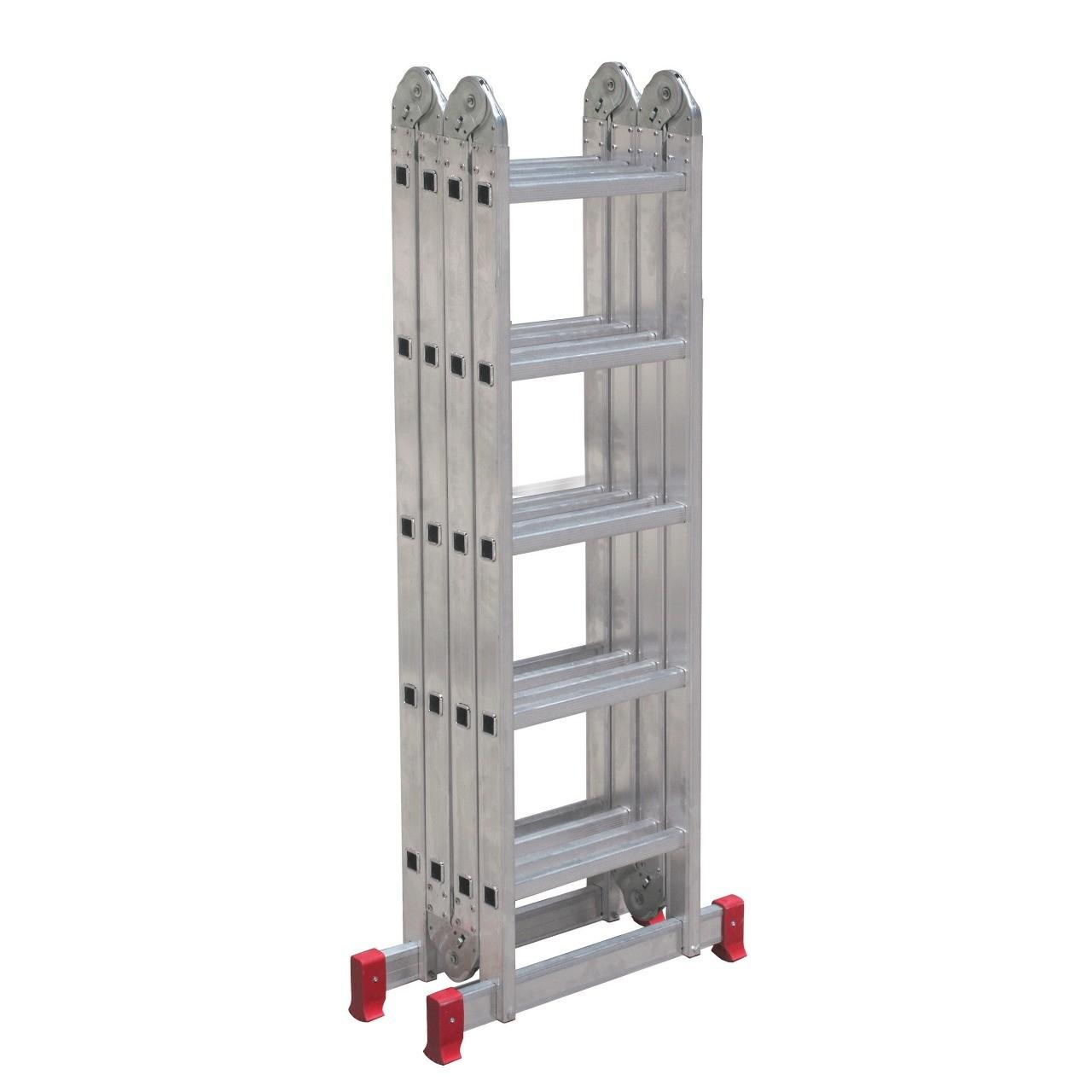 Escada Articulada em Aluminio 616m 20 Degraus 150Kg - Botafogo