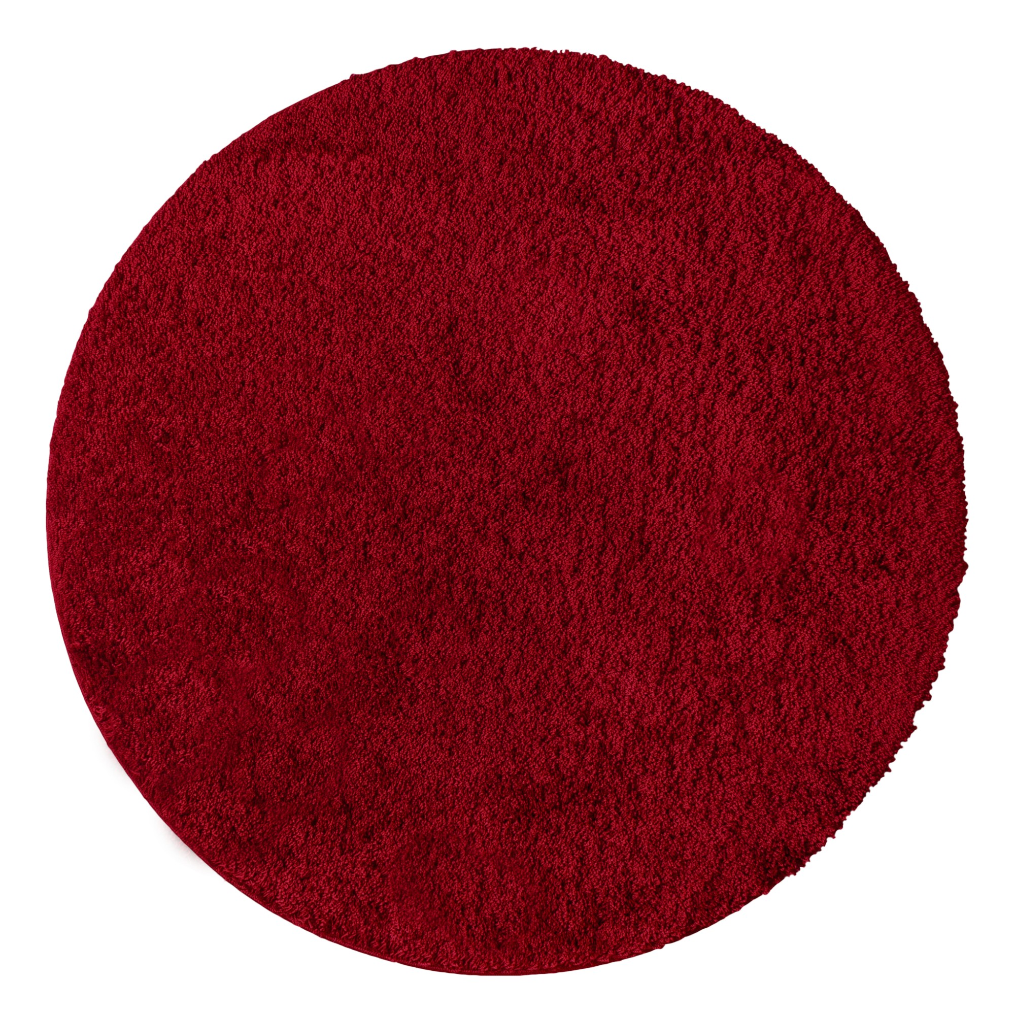 Tapete Realce 150x150 cm Redondo Vermelho - Jolitex