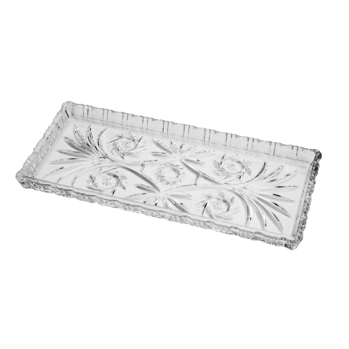 Travessa de Cristal Transparente 34x15cm - Lyor