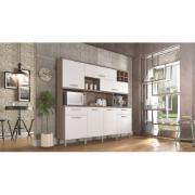 Kit Cozinha 7 Portas e 2 Gaveta Master Branco - Nesher