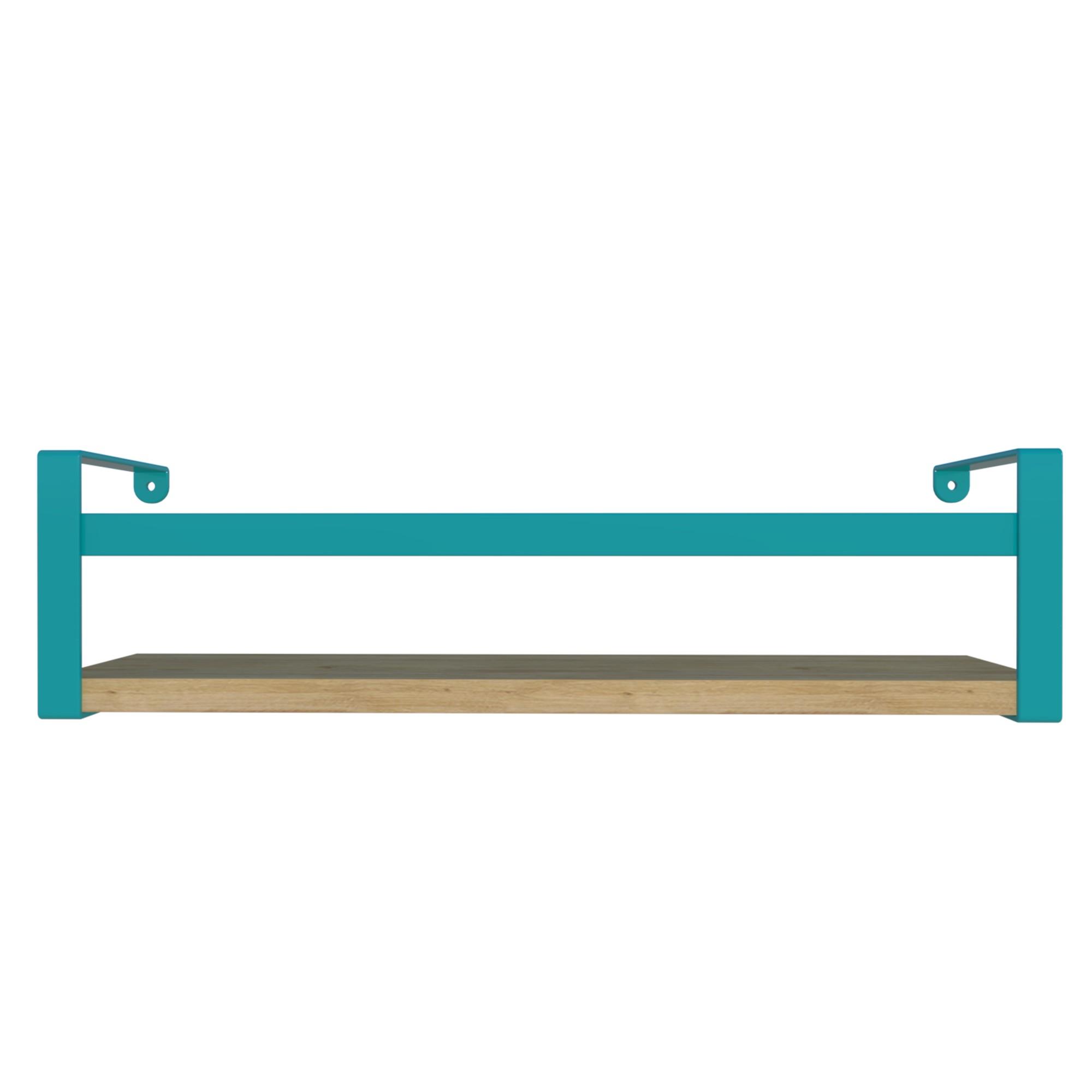 Prateleira de Aco e MDF 45x10cm Azul - DiCarlo