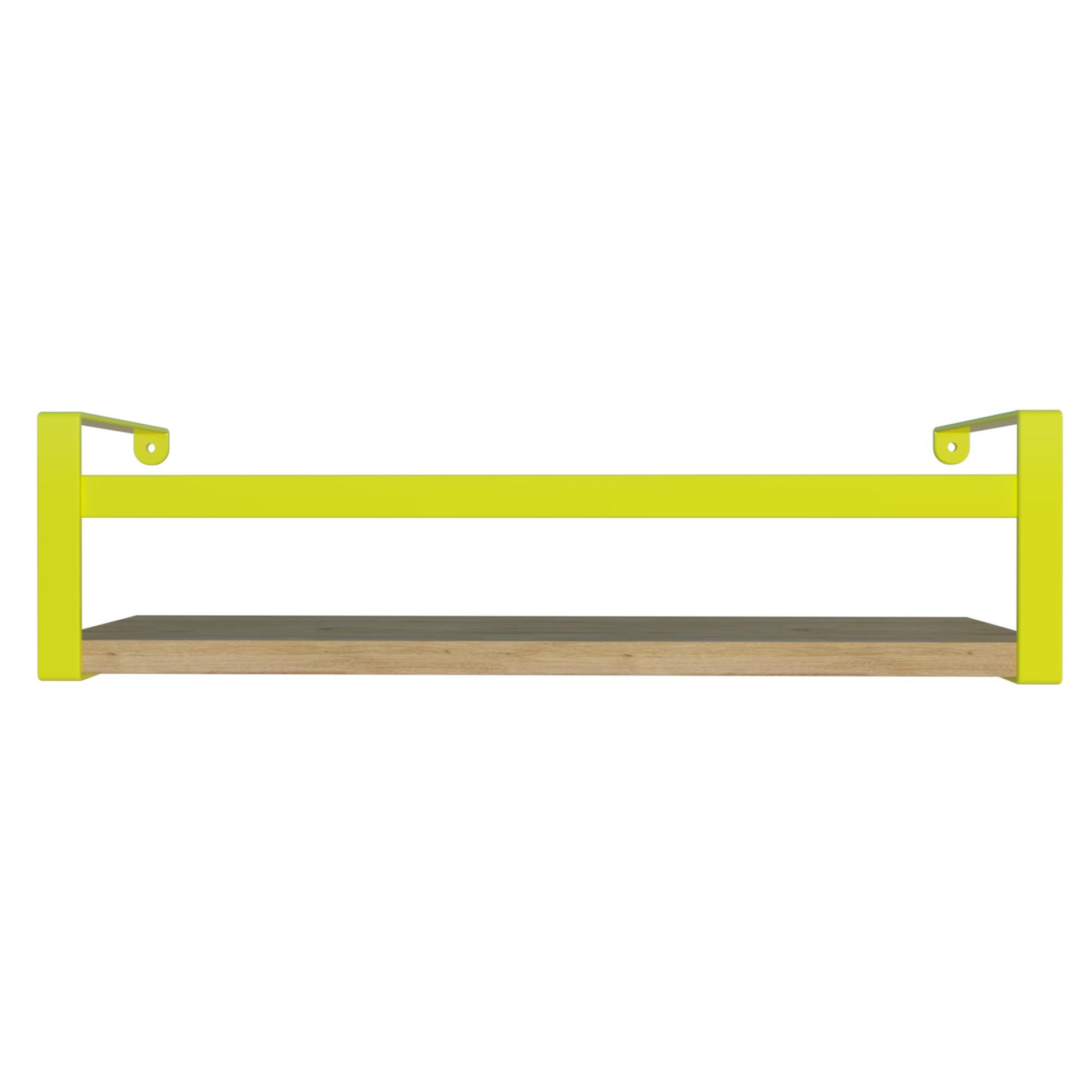 Prateleira Box em Aco e MDF 45x10cm Amarela - DiCarlo